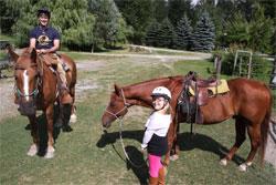 Horse riding in Wistler