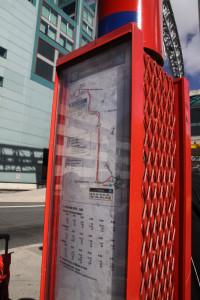 ダウンタウン行き地下鉄の始発駅まで行くバス